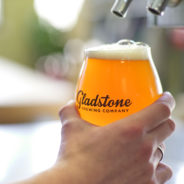 glass of beer at Gladstones