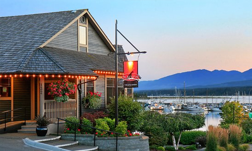 waterfront dining Comox BC